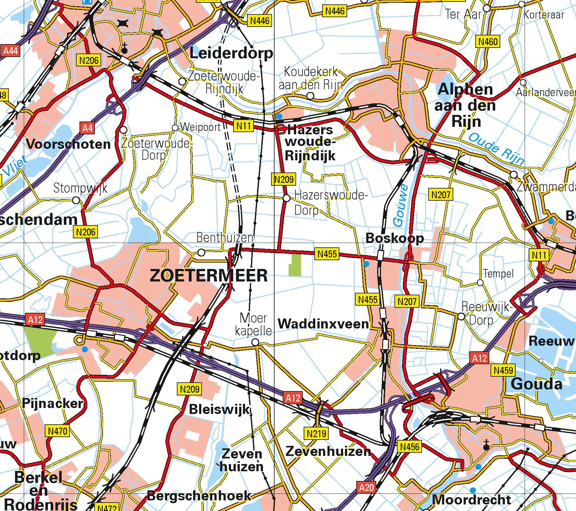 Topografische Landkaart Nederland  1:250.000