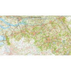 Digitale Provinciekaart Noord Brabant 1:100.000