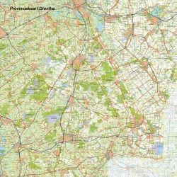 Digitale Provinciekaart Drenthe 1:100.000