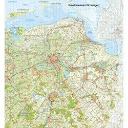 Digitale Provinciekaart Groningen 1:100.000