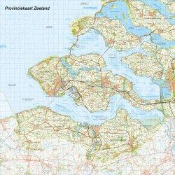 Digitale Provinciekaart Zeeland 1:100.000