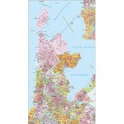 Postcodekaart Noord-Holland 1:100.000