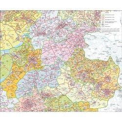Postcodekaart Overijssel 1:100.000