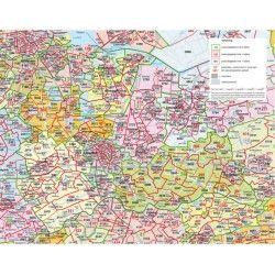Postcodekaart Utrecht 1:100.000