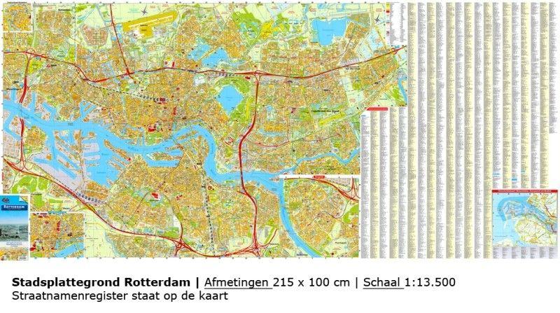 Stadsplattegrond Rotterdam 1:13.500