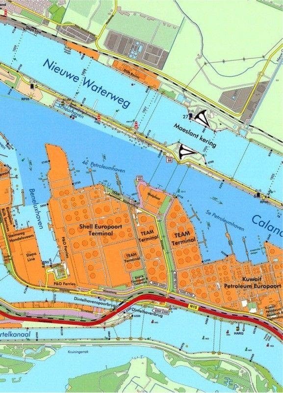 Havenkaart  Rotterdam 1:25.000