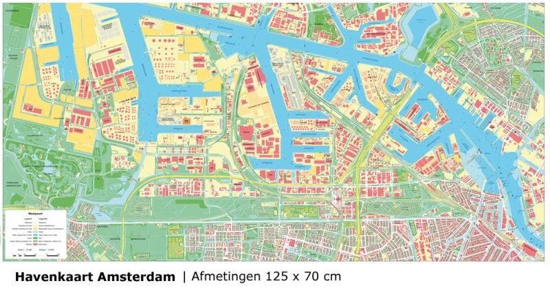 Havenkaart Amsterdam 1:10.000