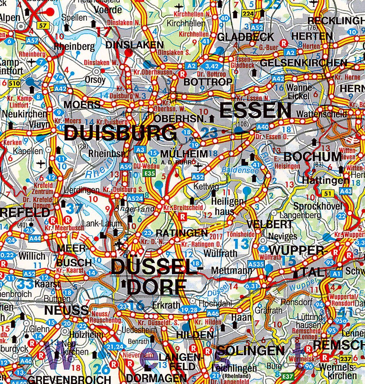 Landkaart Duitsland