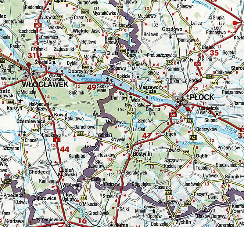 Landkaart Polen