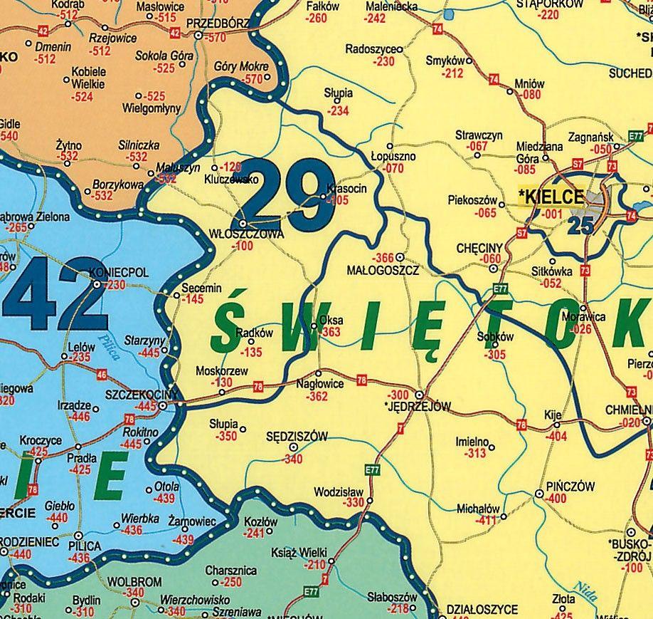 Postcodekaart Polen