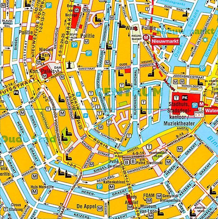 Stadsplattegrond Amsterdam