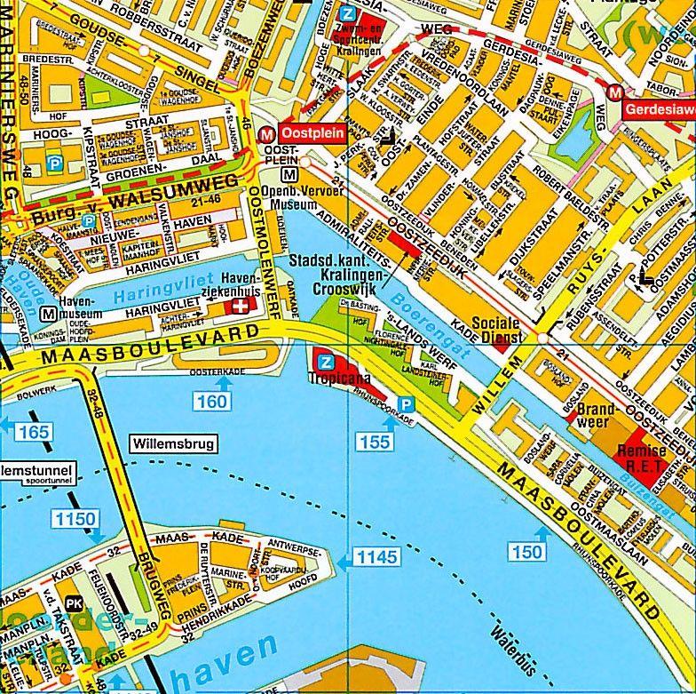 Stadsplattegrond Rotterdam