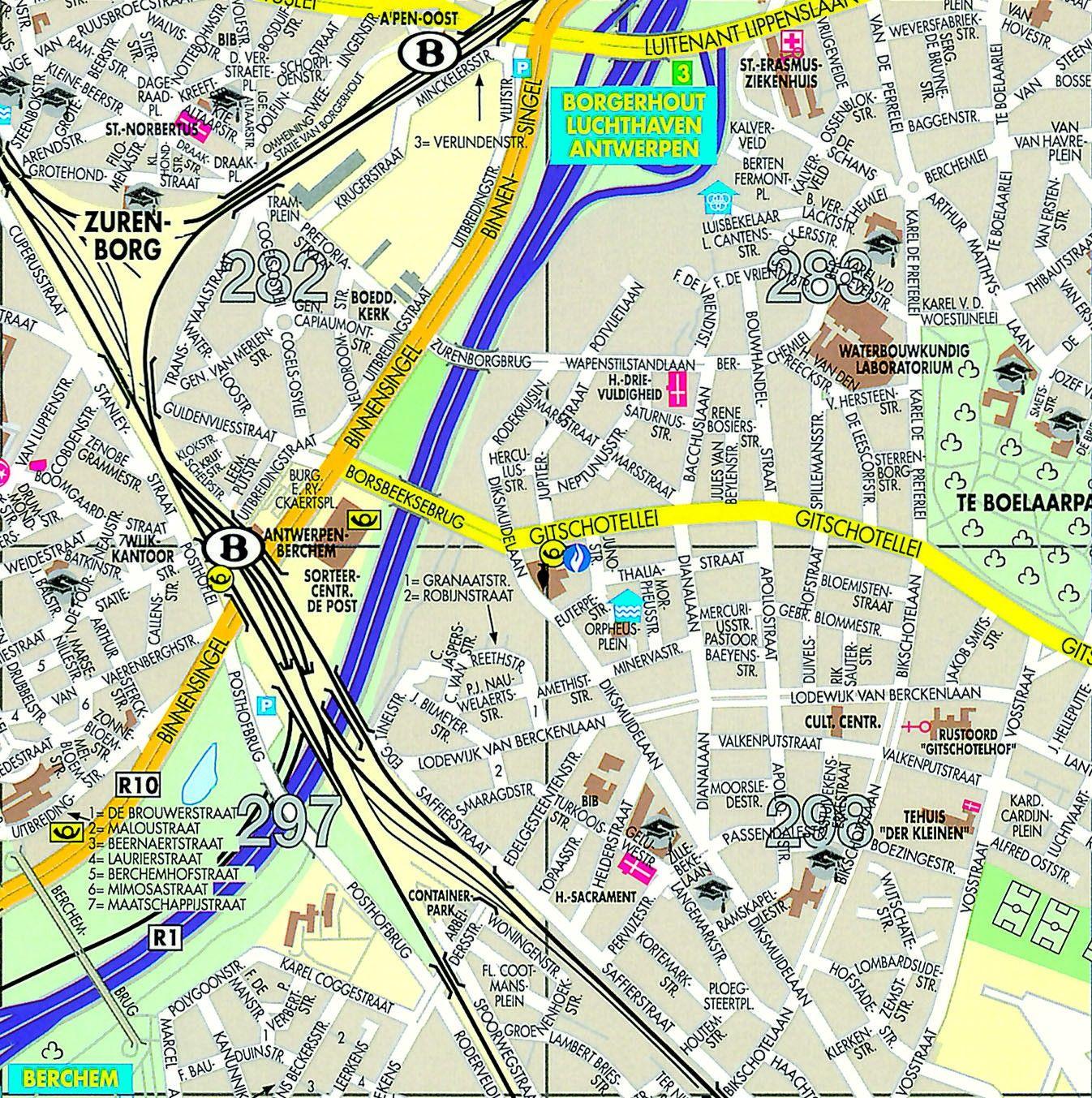 Stadsplattegrond Antwerpen