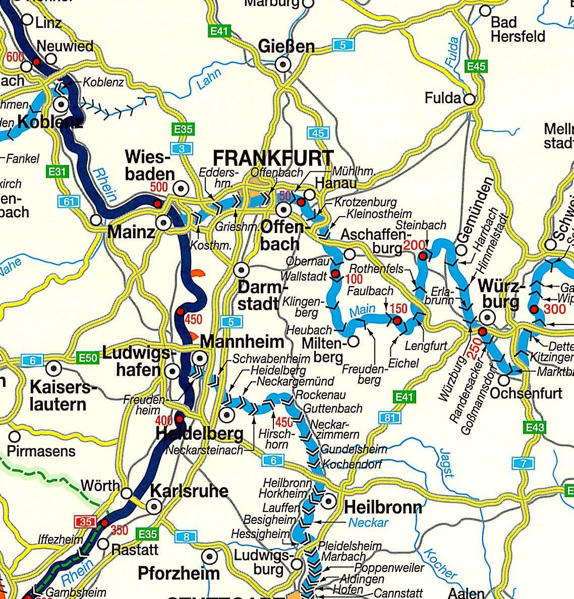 Waterwegen Europa