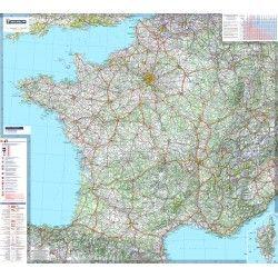 Landkaart Frankrijk 1:1.000.000 met plaatsnamenindex