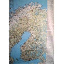 Landkaart Finland 1:1.000.000 met plaatsnamenindex