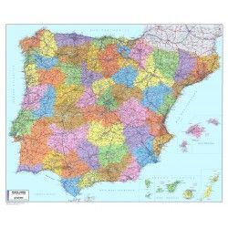 Postcodekaart Spanje / Portugal 1:1.100.000