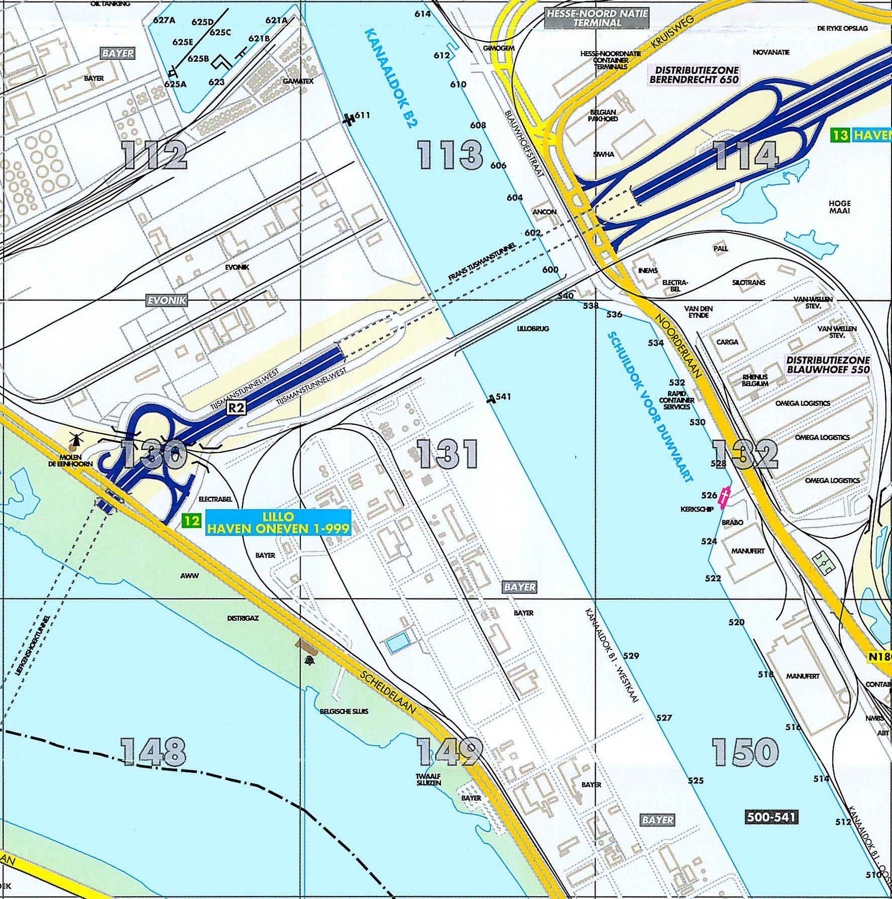 Havenkaart Antwerpen