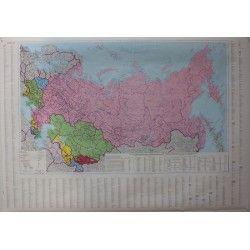 Landkaart Gos-Landen 1:8.000.000 met plaatsnamenindex