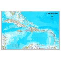Landkaart Caribbean 1:3.293.000