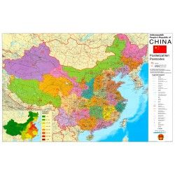 Postcodekaart China 1:4.000.000