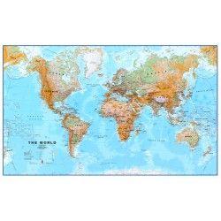 Wereldkaart Natuurkundig
