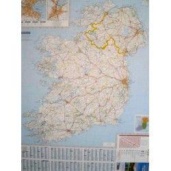 Landkaart Ierland 1:400.000 met plaatsnamenindex