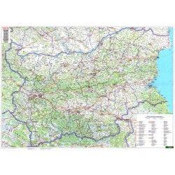 Landkaart Bulgarije 1:400.000