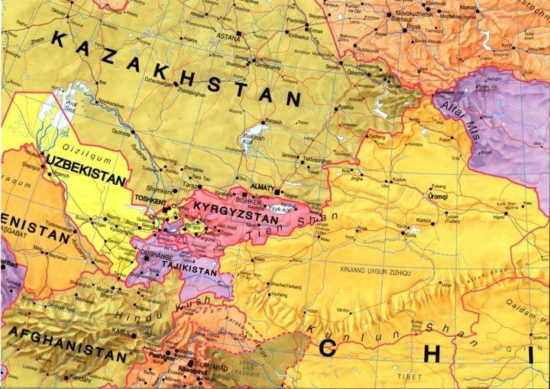 Continentkaart Azië Maps International 1:11.000.000