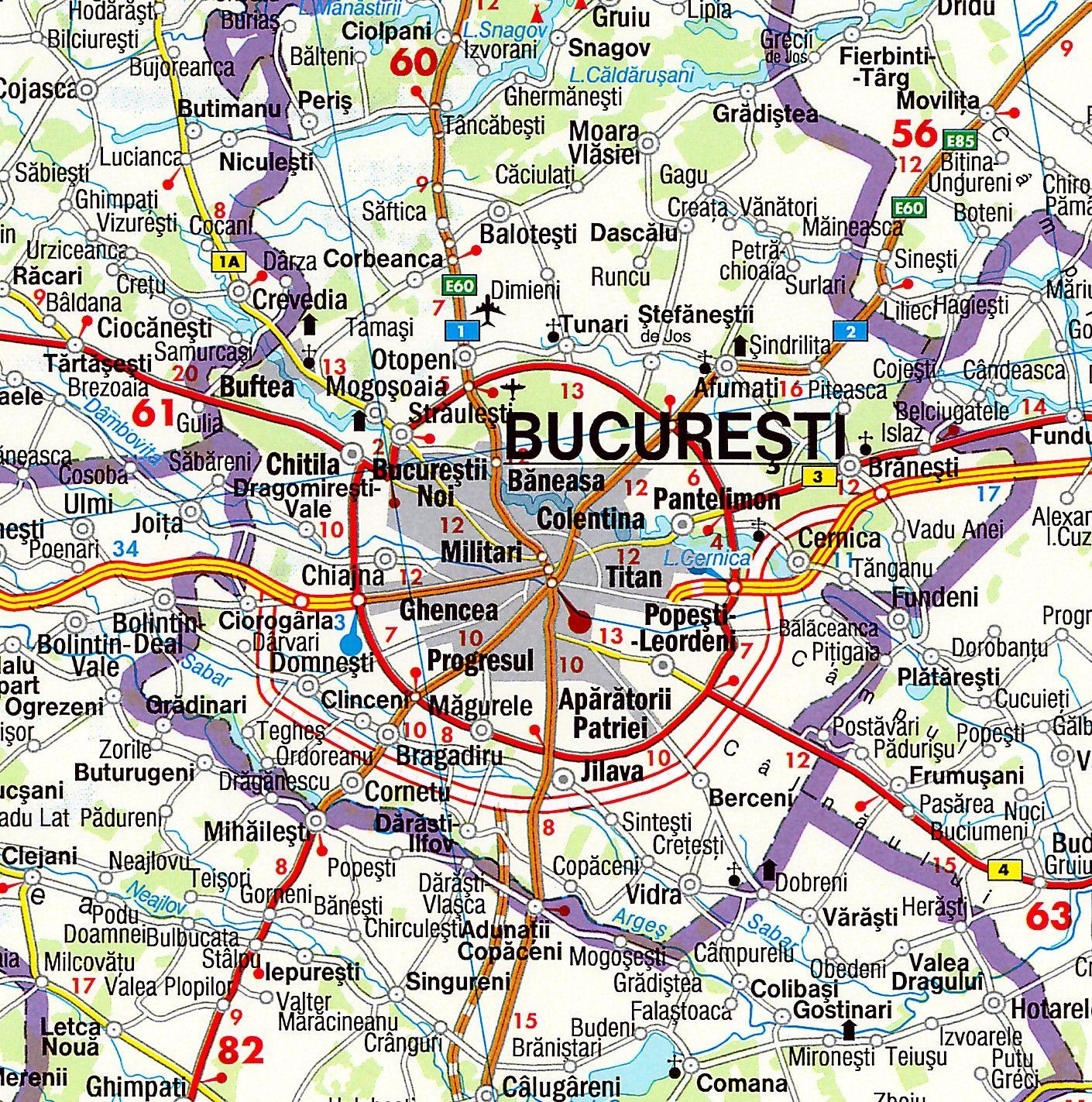 Landkaart Roemenie