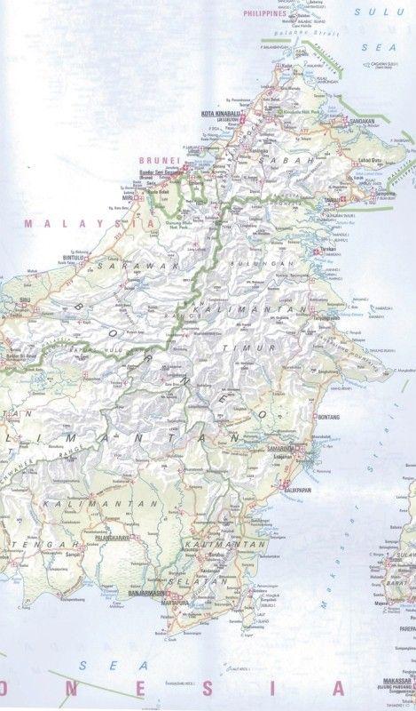 Landkaart Indonesie