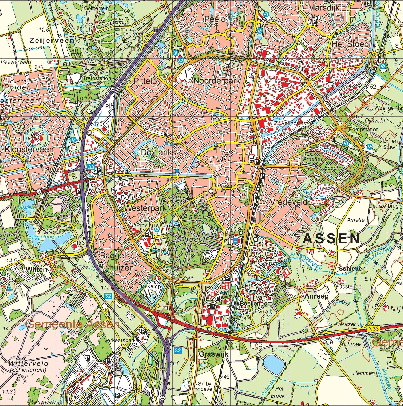 Provincie kaart Drenthe schaal 1:50.000