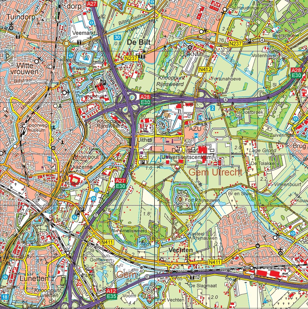 Provincie kaart Utrecht schaal 1:50.000