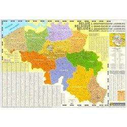 4-cijferige Postcodekaart België de Rouck Geocart 1:250.000