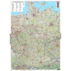 Landkaart Duitsland 1:700.000 met plaatsnamenindex