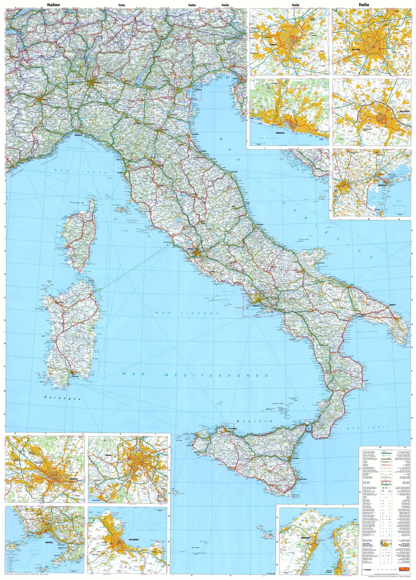 Landkaart Italie