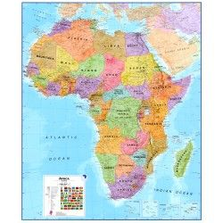 Continentkaart Afrika Maps International  1:8.000.000