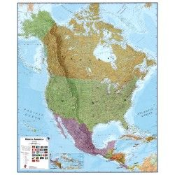 Continentkaart Noord-Amerika Maps International 1:7.000.000