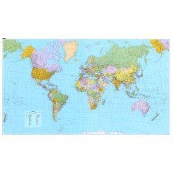 Wereldkaart A Kummerly & Frey Staatkundig 1:30.000.000