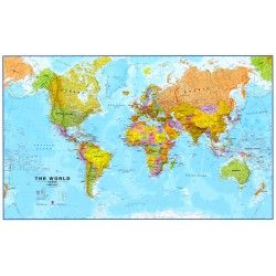 Wereldkaart FEngelstalig 1:30.000.000