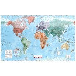 Wereldkaart B Staatkundig 1:30.000.000