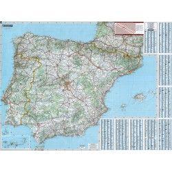 Landkaart Spanje 1:1.000.000 met plaatsnamenindex