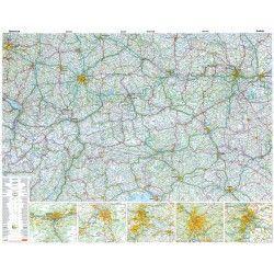 Landkaart Oostenrijk 1:500.000 met plaatsnamenindex