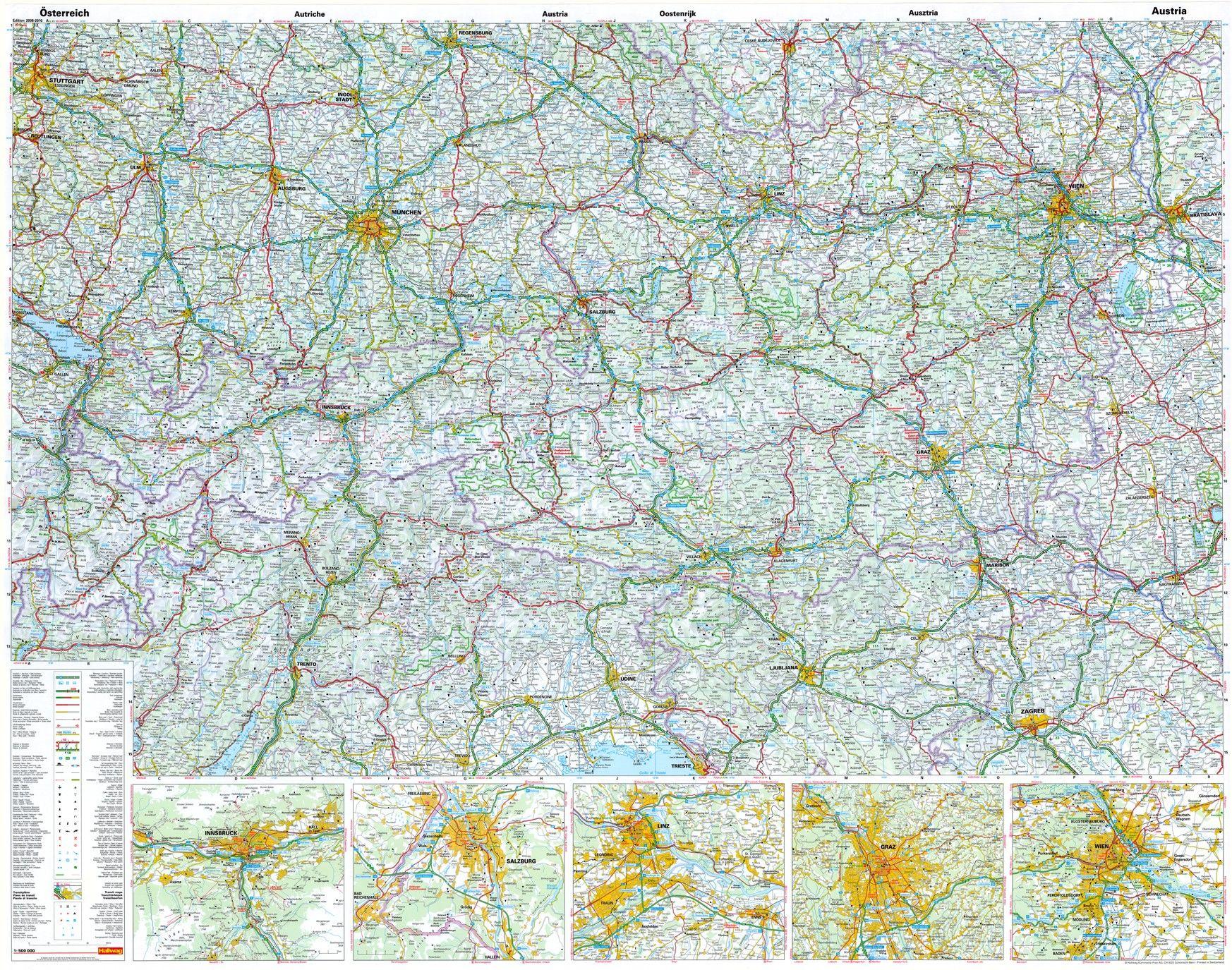 Landkaart Oostenrijk