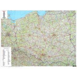 Landkaart Polen 1:700.000 met plaatsnamenindex