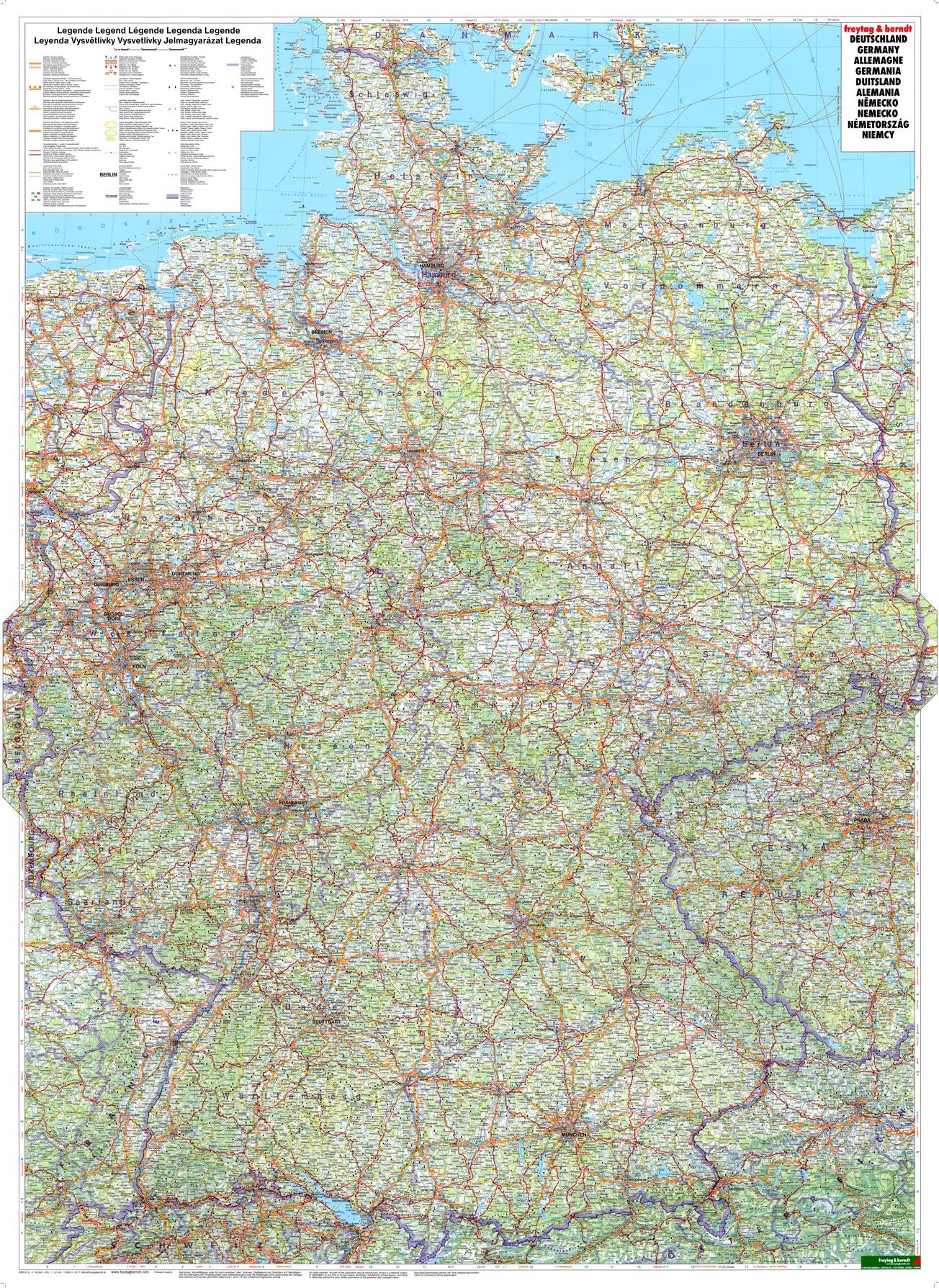 Landkaart Duitsland Groot