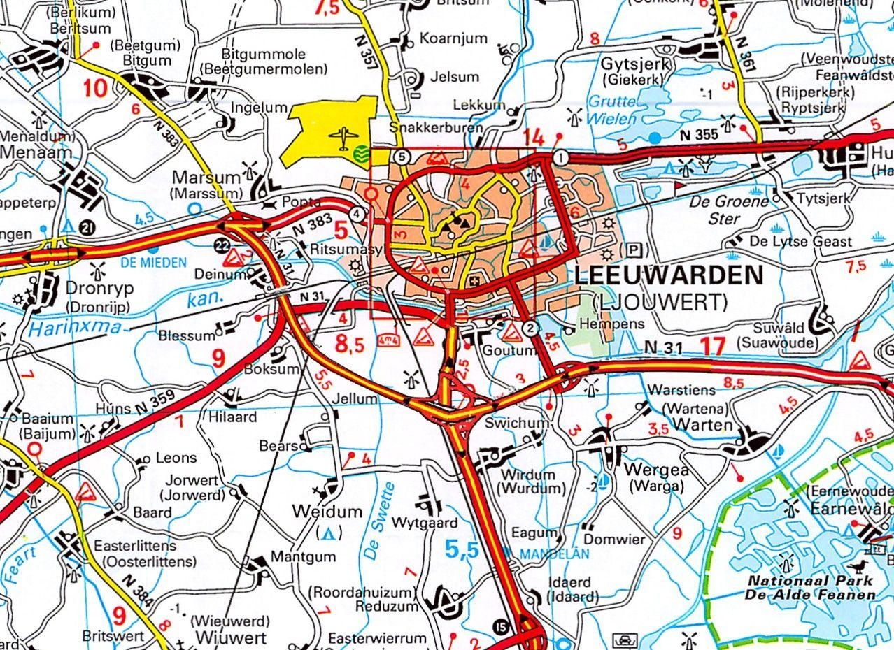 Provincie kaart Friesland