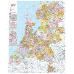 Digitale Postcodekaart  van Nederland 4 cijferig 1:250.000 400dpi