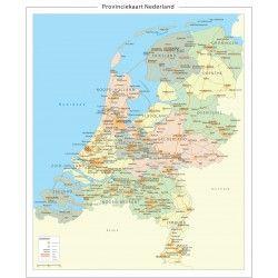 Provinciekart van Nederland 1:250.000 400dpi