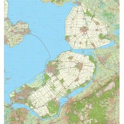 Digitale Provinciekaart Flevoland 1:50.000